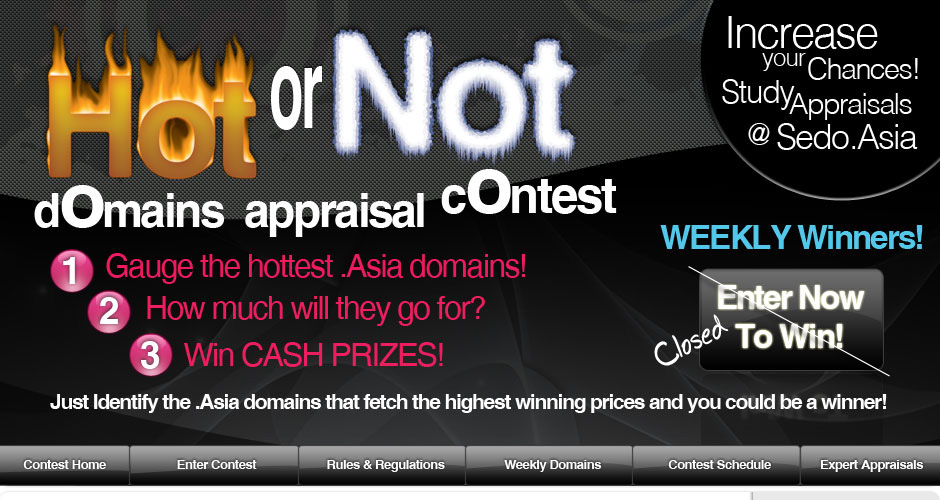 .Asia Hot or Not Domains Appraisal Contest